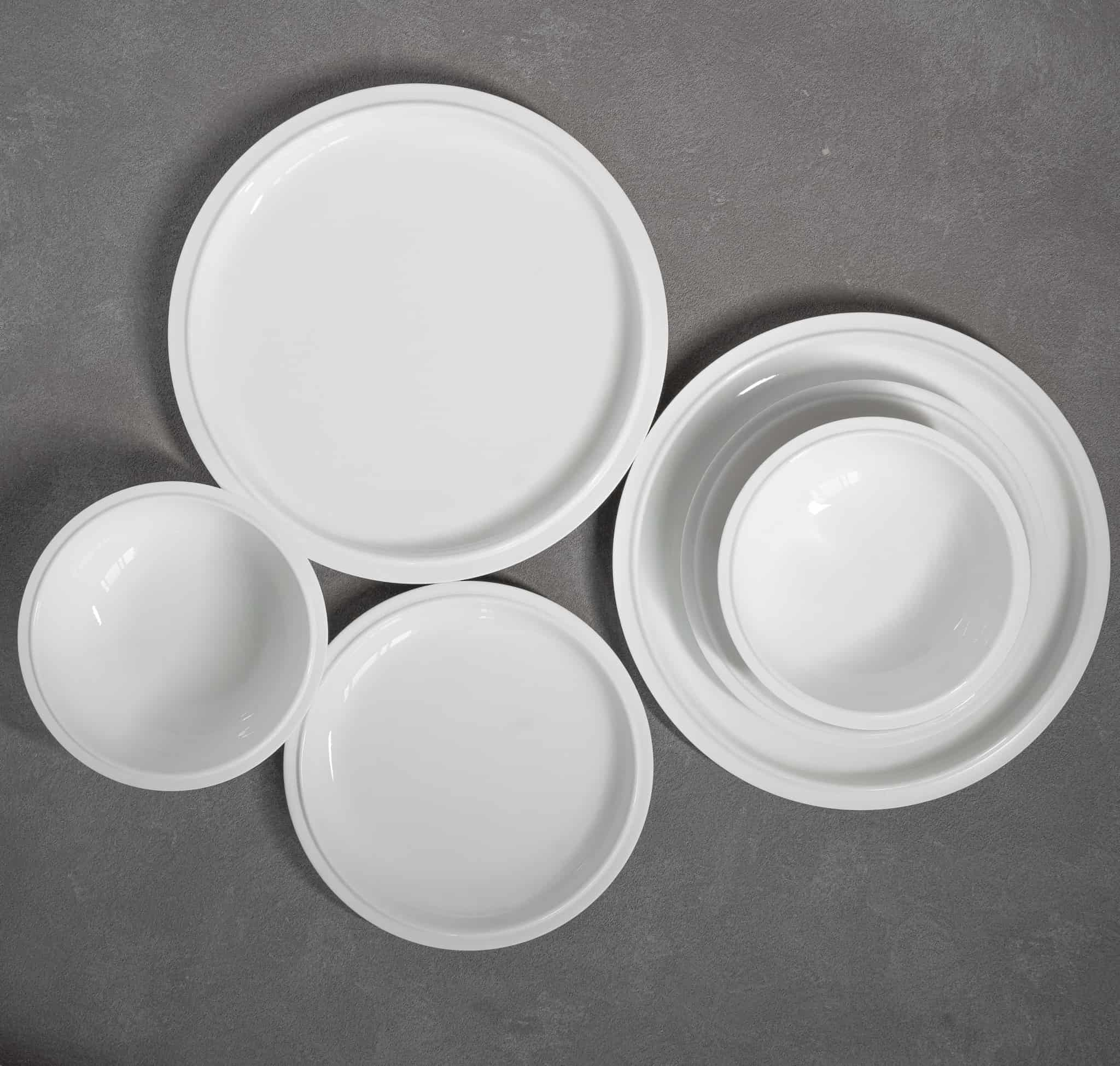 TINGE PORCELAIN DINNERWARE (WHITE)-3